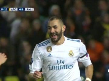 Benzema volvió a marcar ante el APOEL: así fue la gran jugada del Madrid para el 0-2 en Nicosia
