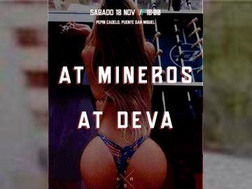 El cartel utilizado por la peña del Atlético Mineros para promocionar el partido