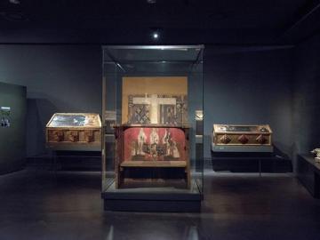 Vista de algunos de los bienes de Sijena