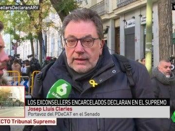 """Josep Lluis Clèries: """"Cuando era joven pedíamos libertad, amnistía y estatut de autonomía y hoy incluso hemos de pedir poder lucir un lazo amarillo, que triste"""""""