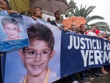 Imagen de archivo de una manifestación para pedir justicia para Yéremi, el niño de siete años desaparecido