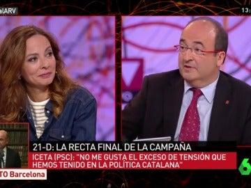 Miquel Iceta y Neus Tomás en ARV