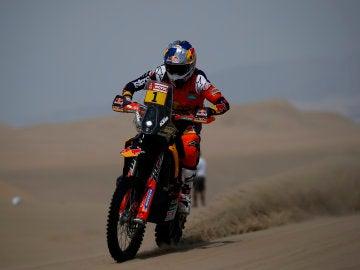Sam Sunderland, en acción en el Dakar 2018