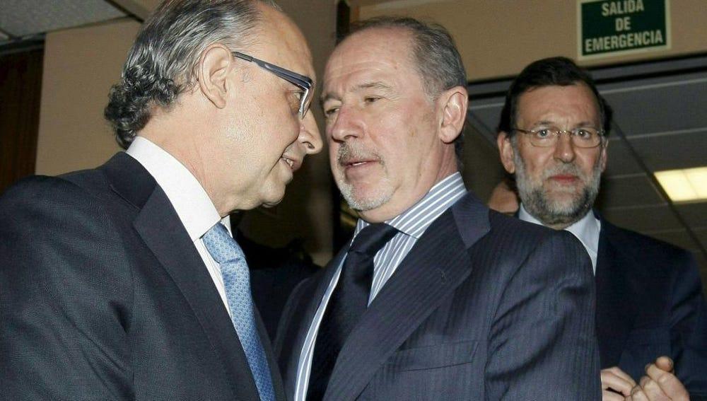 Cristóbal Montoro, Rodrigo Rato y Mariano Rajoy