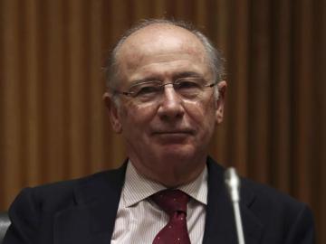 Rodrigo Rato, momentos antes de su comparecencia en la Comisión de investigación