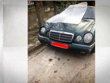 Así quedó el vehículo tras el atropello mortal en Fuente el Saz