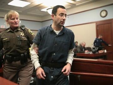 Larry Nassar, durante el juicio