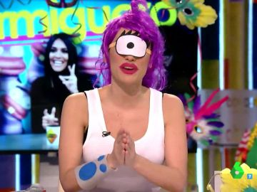 Ana Morgade, disfrazada de Leela en Zapeando Carnaval