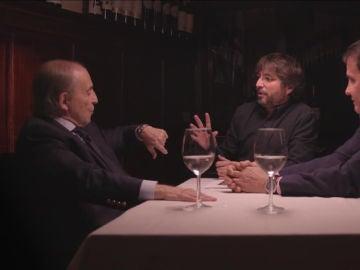 José María García y José Ramón de la Morena, junto a Jordi Évole