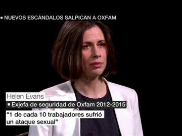 Helen Evans, exjefa de Seguridad de Oxfam