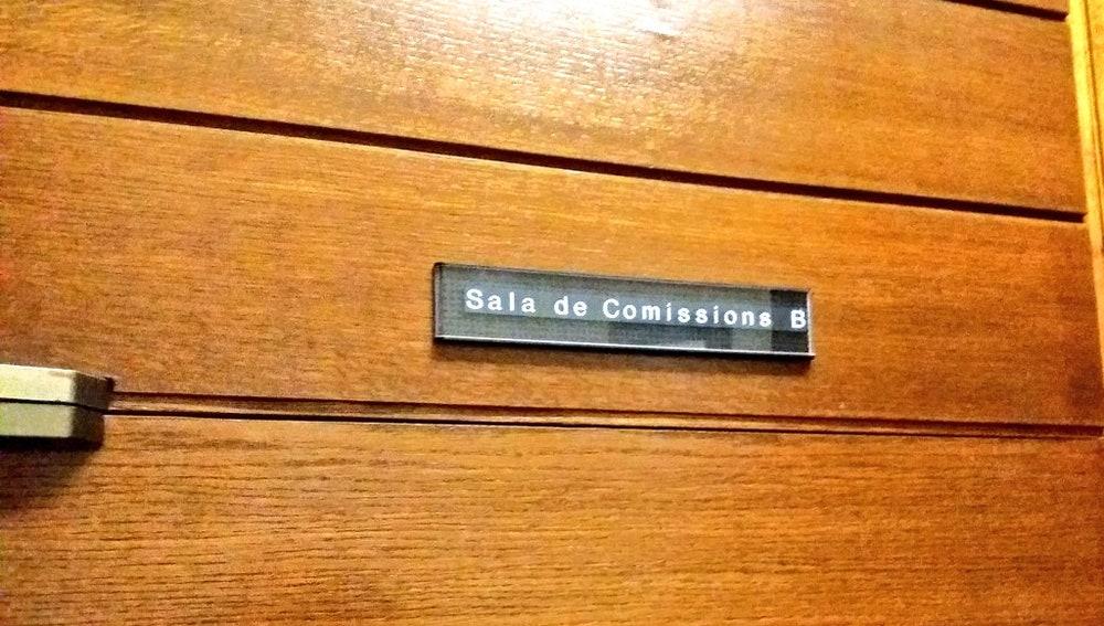 Sala de Comisiones B de las Cortes Valencianas