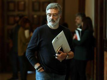 El portavoz parlamentario de la CUP, Carles Riera