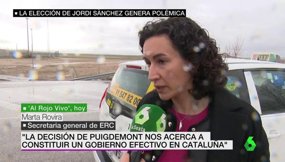 Marta Rovira habla en exclusiva con laSexta