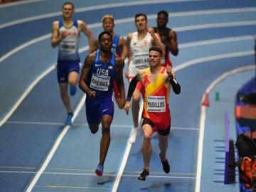 Óscar Husillos, en carrera