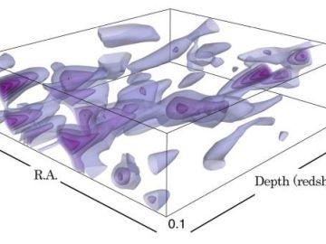 Las primeras imágenes del mapa de materia oscura