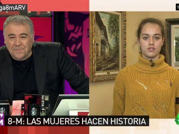 Sara Naila Navacerrada, vocera de la Comisión 8M