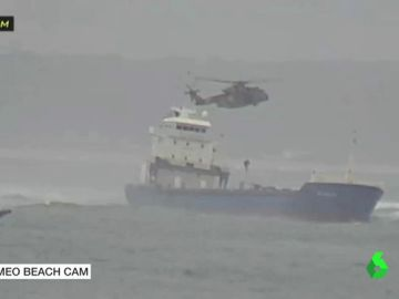 Riesgo de vertido del buque gallego encallado en Lisboa