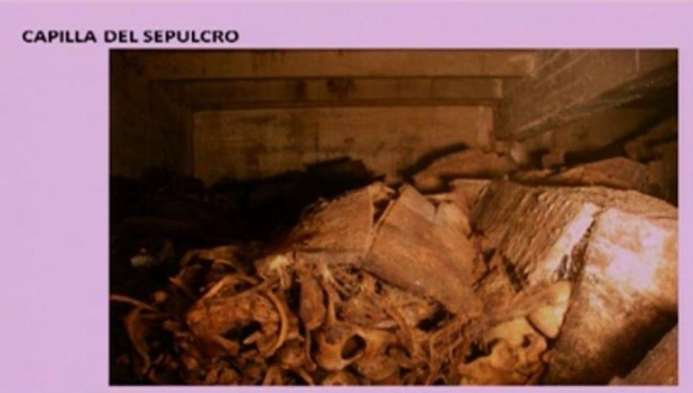 Restos de las víctimas del franquismo en el valle de los caídos