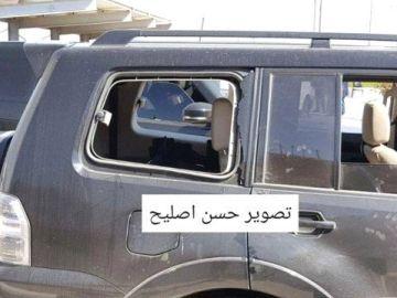 Imagen del convoy del primer ministro palestino tras la explosión en Gaza