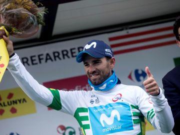 Alejandro Valverde, en el podio de la Volta a Cataluña