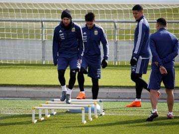 Messi entrena en Valdebebas