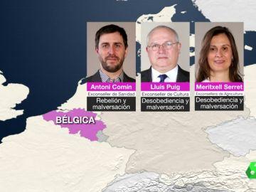 Los exconsellers huidos en Bélgica