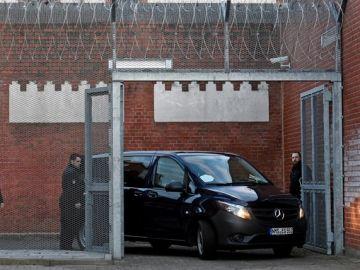 Furgoneta en la que se detuvo a Puigdemont