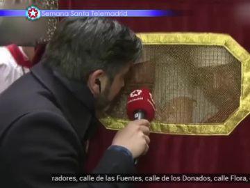 José Antonio Masegosa, en las procesiones de Semana Santa
