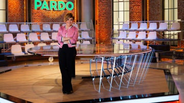 Cristina Pardo en el plató de Liarla Pardo