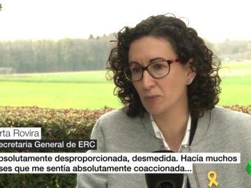 """Marta Rovira no descarta pedir asilo en Suiza: """"No podía arriesgarme a entre 20 y 30 años de prisión por delitos que jamás he cometido"""""""