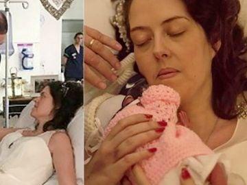 Steven, Tracey y su recién nacida