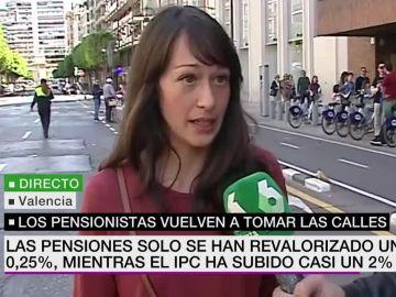 Mar Cruz, manifestante en las movilizaciones de los pensionistas