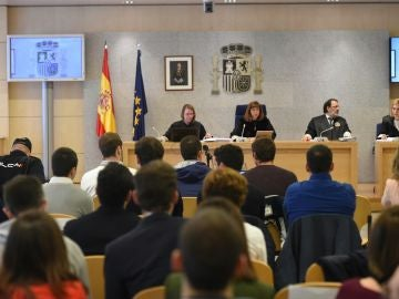 Sesión del juicio por las agresiones en Alsasua
