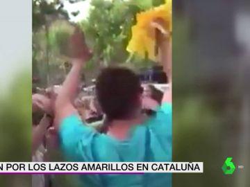 Tensión en Cataluña a cuenta de los lazos amarillos