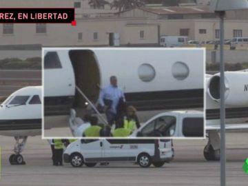 El momento de la detención de Miguel Ángel Ramírez, presidente de la UD Las Palmas