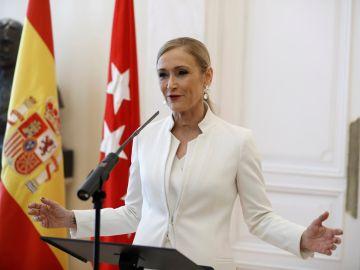 Cristina Cifuentes ante los medios de comunicación