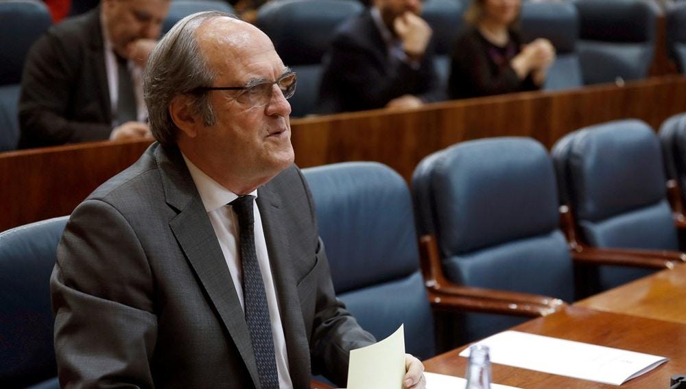 Ángel Gabilondo en la Asamblea de la Comunidad de Madrid
