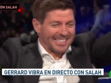 Gerrard alucina con la exhibición de Salah en Anfield: la leyenda 'red', a los pies del egipcio