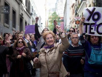 Imagen de archivo de una movilización feminista en Madrid tras la sentencia de La Manada