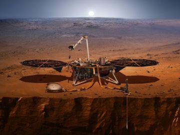 Reconstrucción de Insight en la superficie de Marte