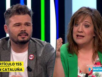 Gabriel Rufián e Iratxe García