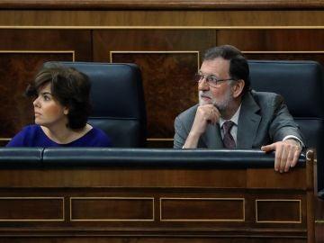 Mariano Rajoy y la exvicepresidenta Soraya Sáez de Santamaría