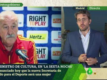 """Màxim Huerta: """"No propuse a Vicente del Bosque ser secretario de Estado para el Deporte, aunque, obviamente, es un gran nombre y un gran hombre"""""""
