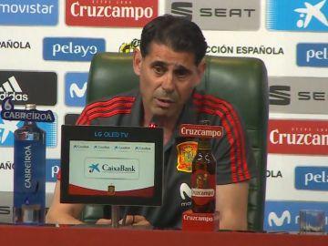 Fernando Hierro comparece ante los medios de comunicación