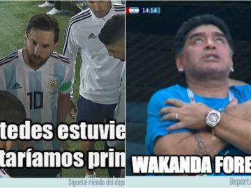 Los memes del Nigeria vs Argentina