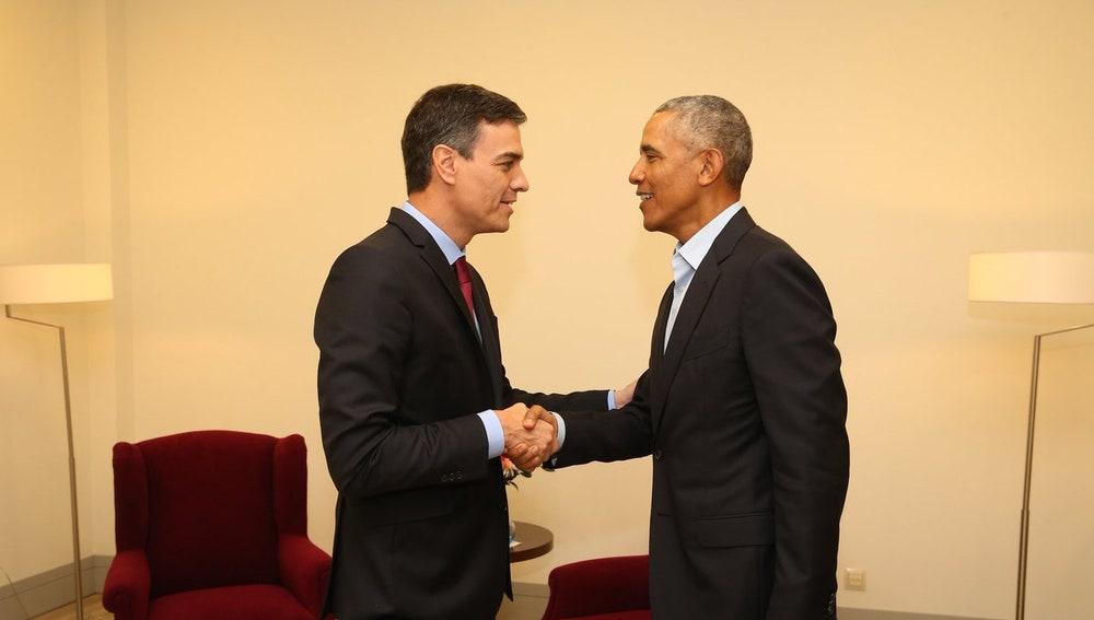Pedro Sánchez se reúne con Barack Obama