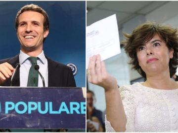 Pablo Casado y Soraya Sáenz de Santamaría, candidatos a liderar el PP
