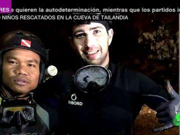 El buzo español que participa en el rescate de la cueva de Tailandia.