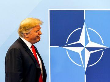 Donald Trump en la cumbre de jefes de estado de la OTAN