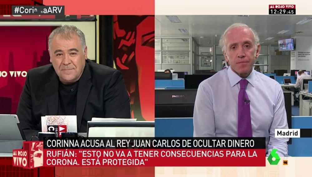 """Eduardo Inda: """"Creo que las cuentas del rey Juan Carlos en Suiza siguen vivas desde hace 40 años"""""""